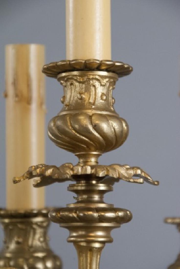 Pair French Rococo Gilt Bronze Ormolu Candelabras - 4