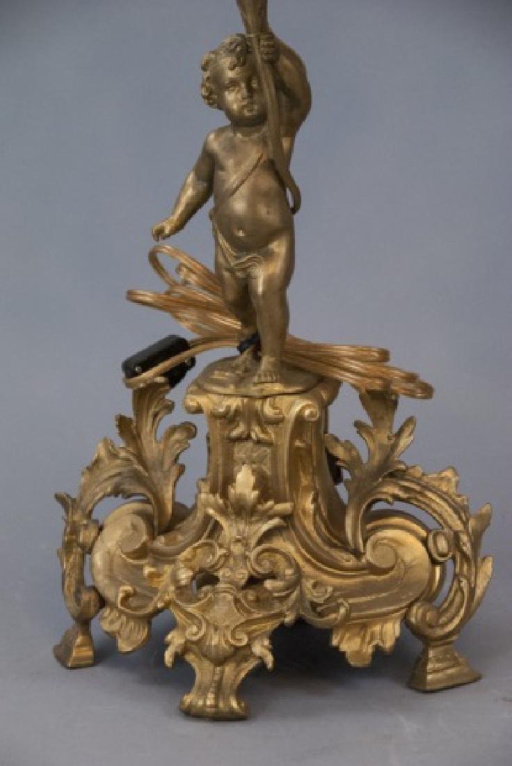 Pair French Rococo Gilt Bronze Ormolu Candelabras - 9