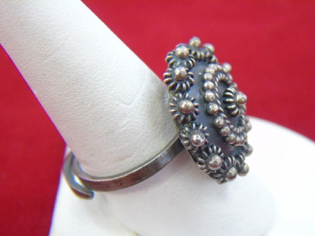 Mexican Sterling Silver Jewelry - Ring & Earrings - 10