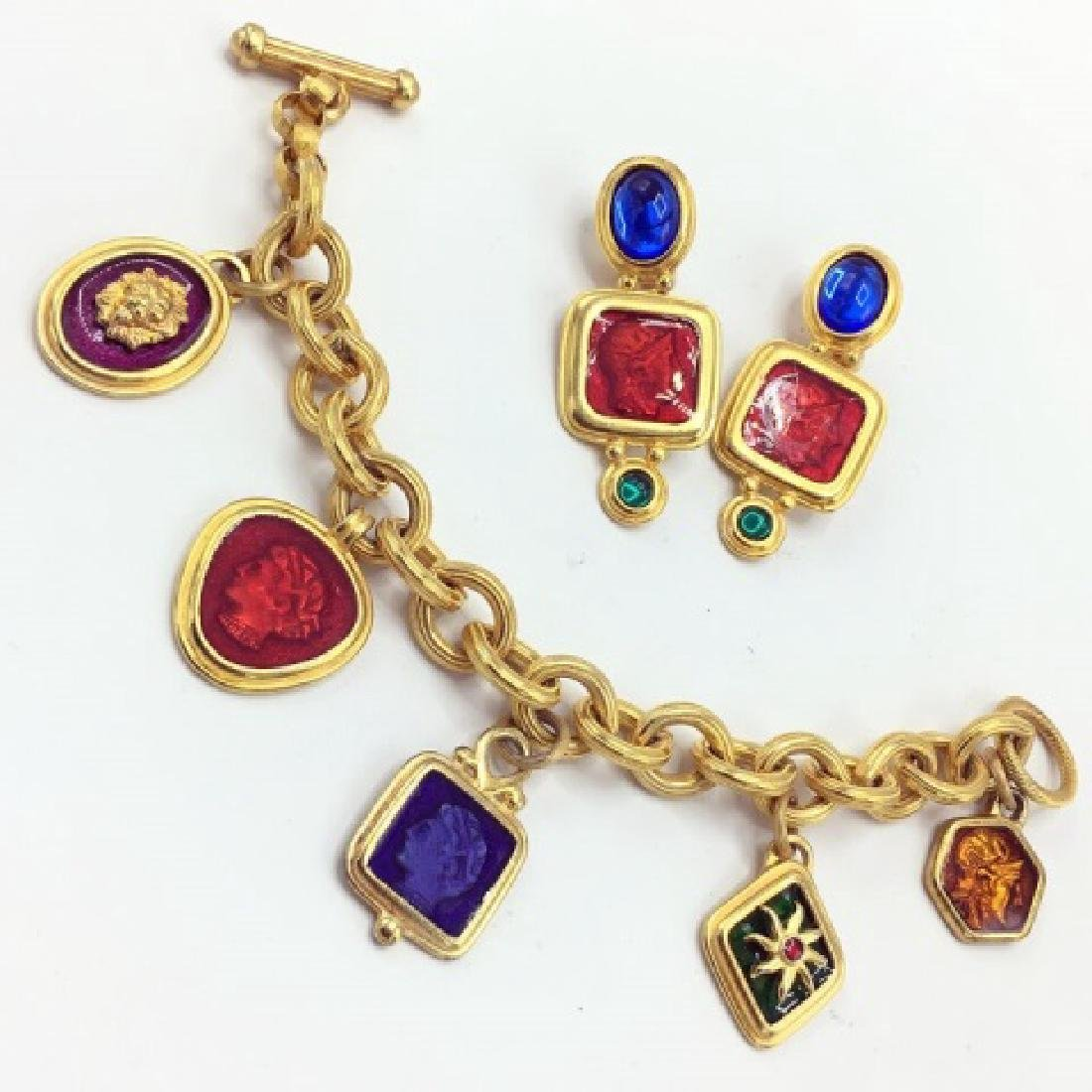 Vintage Robert Rose Roman Inspired Costume Jewelry - 3