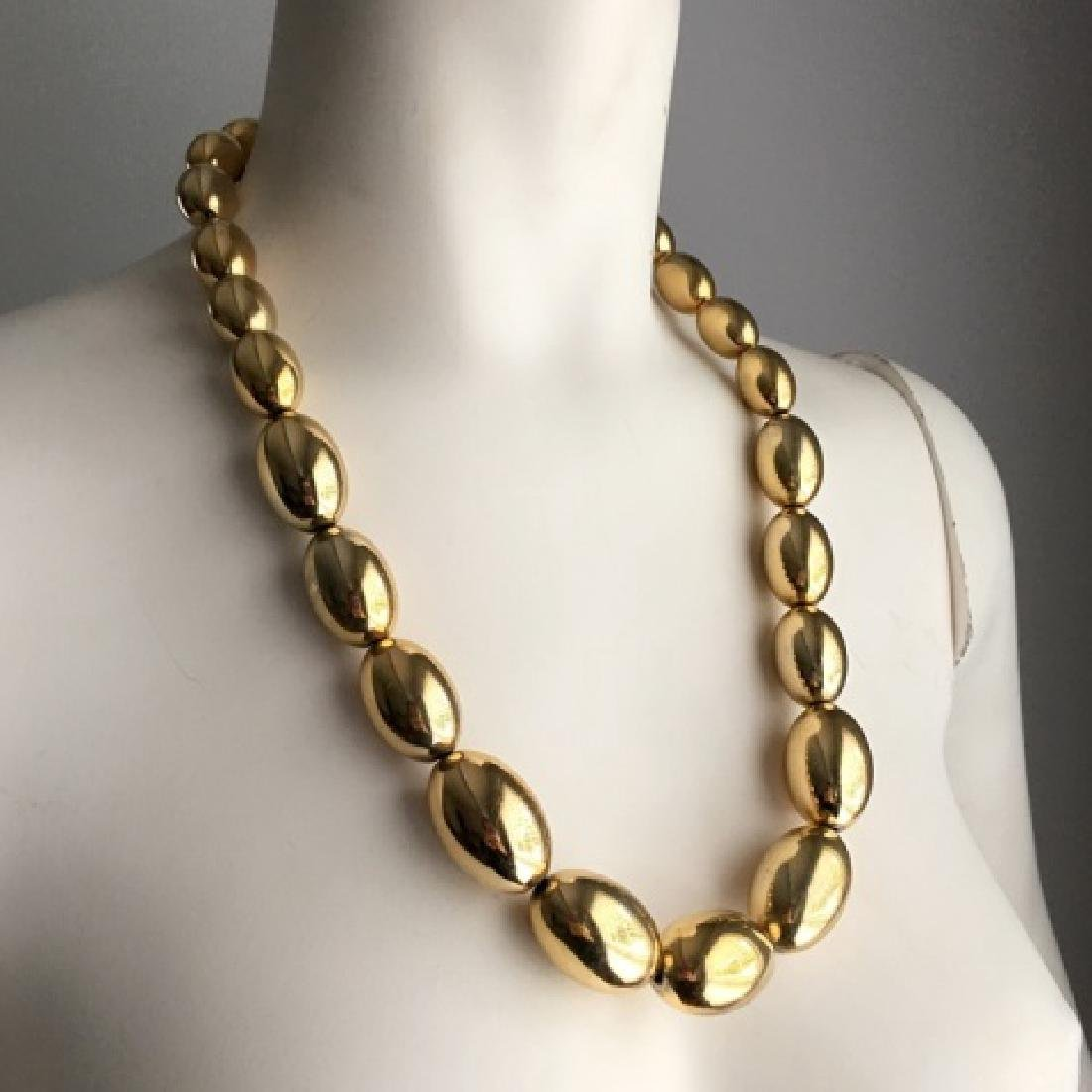 Vintage 1980s Gold Tone Costume Jewelry Set - 3