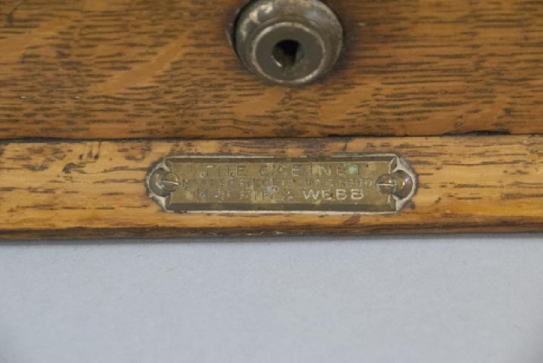 19th Century English Tantalus w 3 Decanters - 6