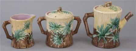 Matching E.Truscan Majolica Teapot Set
