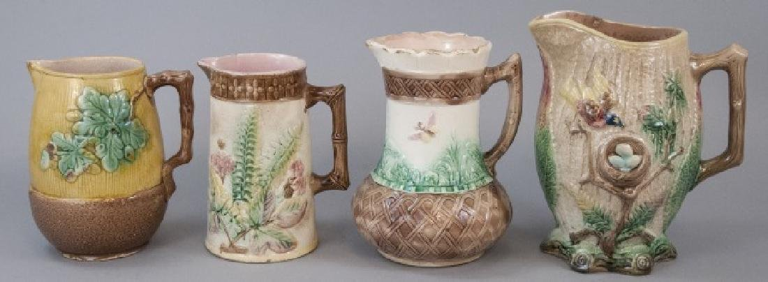 Assorted Lot Of Majolica Jugs & Pitchers