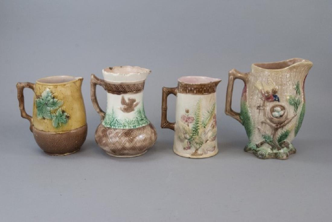 Assorted Lot Of Majolica Jugs & Pitchers - 6
