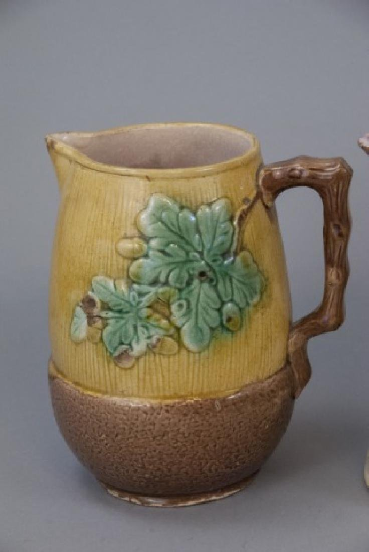 Assorted Lot Of Majolica Jugs & Pitchers - 7