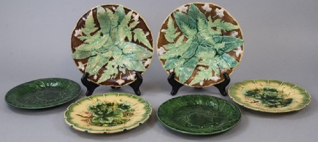 Assorted Lot of 3 Pairs Of Majolica Plates