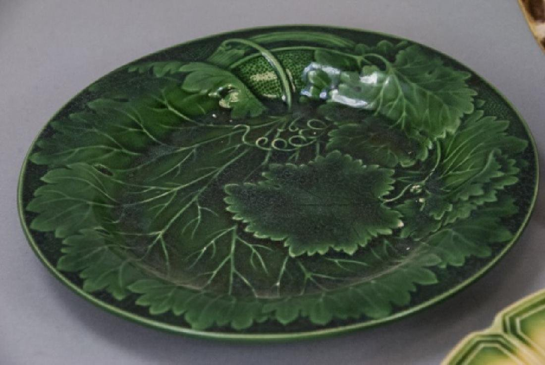 Assorted Lot of 3 Pairs Of Majolica Plates - 3