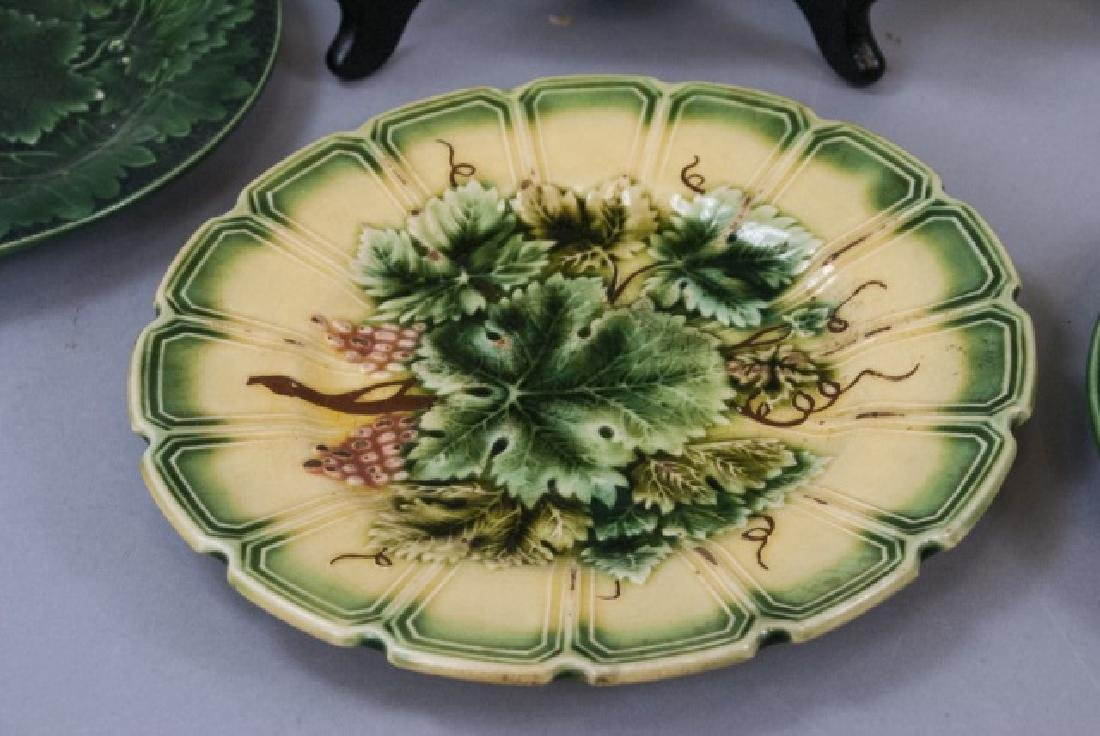 Assorted Lot of 3 Pairs Of Majolica Plates - 4