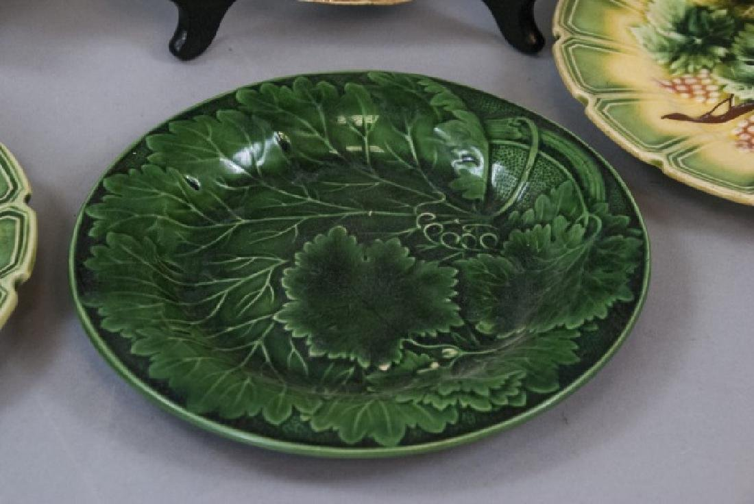 Assorted Lot of 3 Pairs Of Majolica Plates - 5
