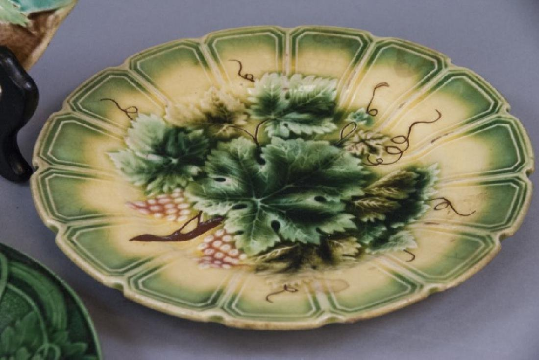 Assorted Lot of 3 Pairs Of Majolica Plates - 6