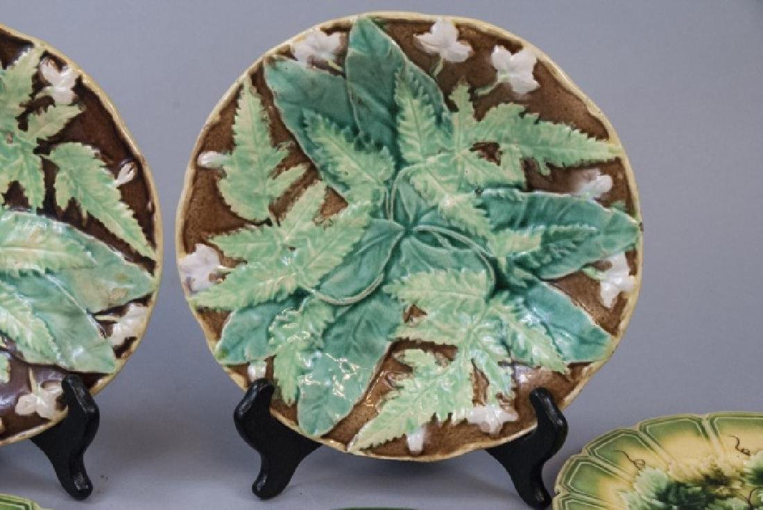 Assorted Lot of 3 Pairs Of Majolica Plates - 7