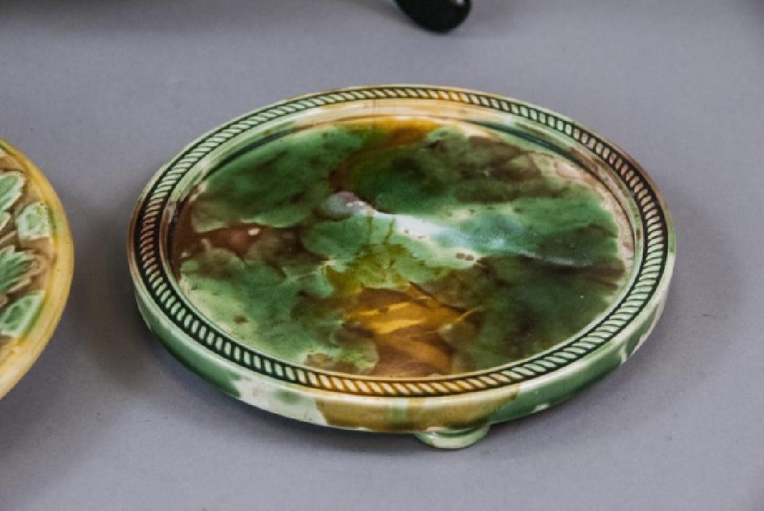 Assorted Spongeware Majolica Plates & Dishes - 5
