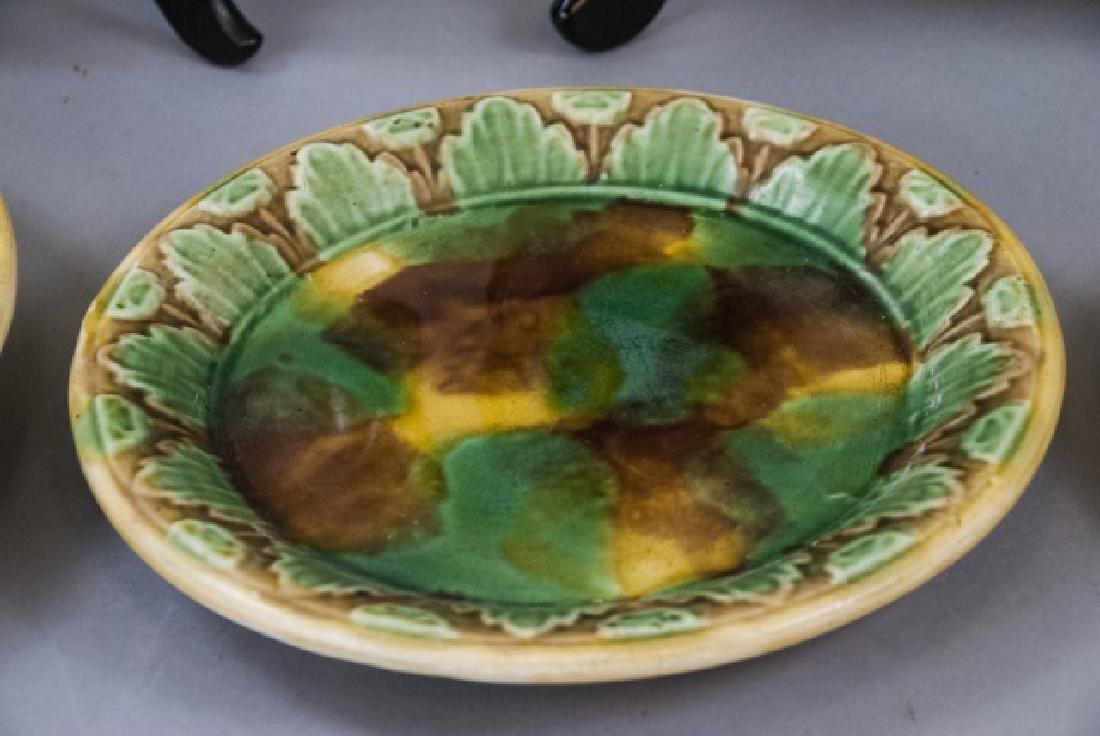 Assorted Spongeware Majolica Plates & Dishes - 6