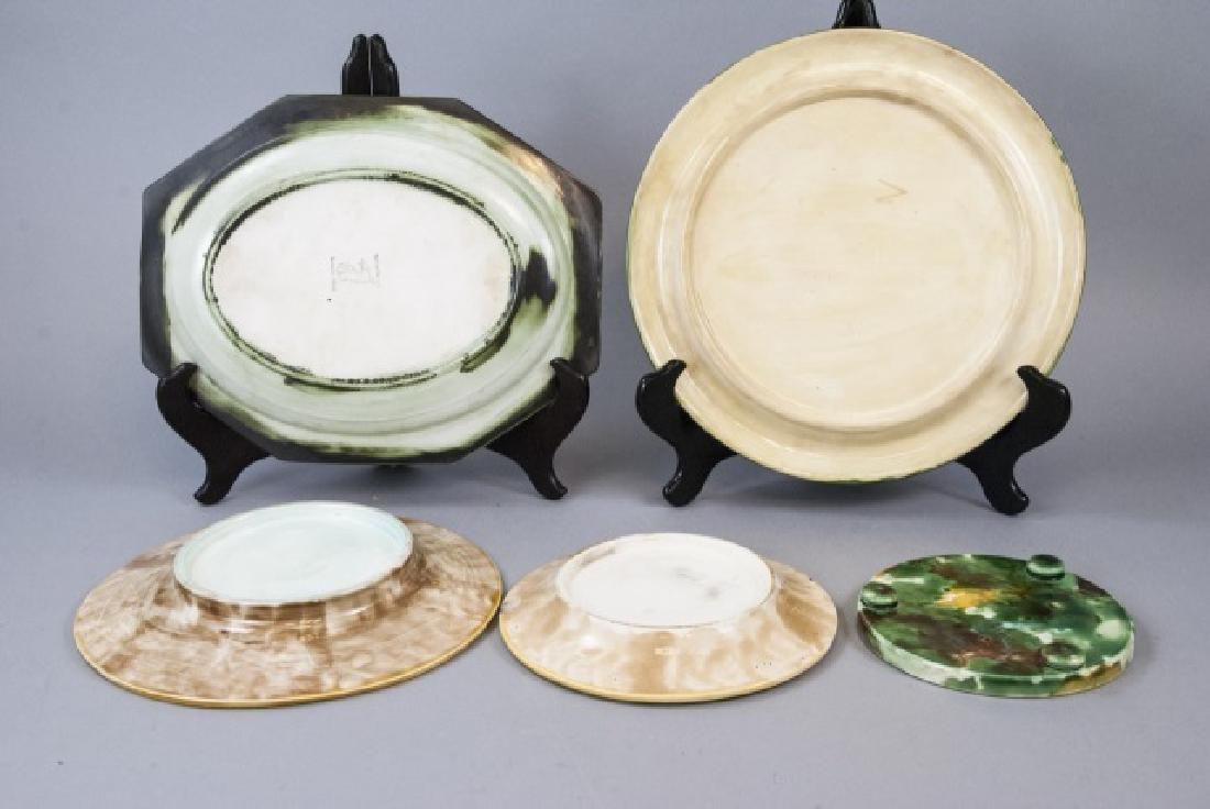 Assorted Spongeware Majolica Plates & Dishes - 8