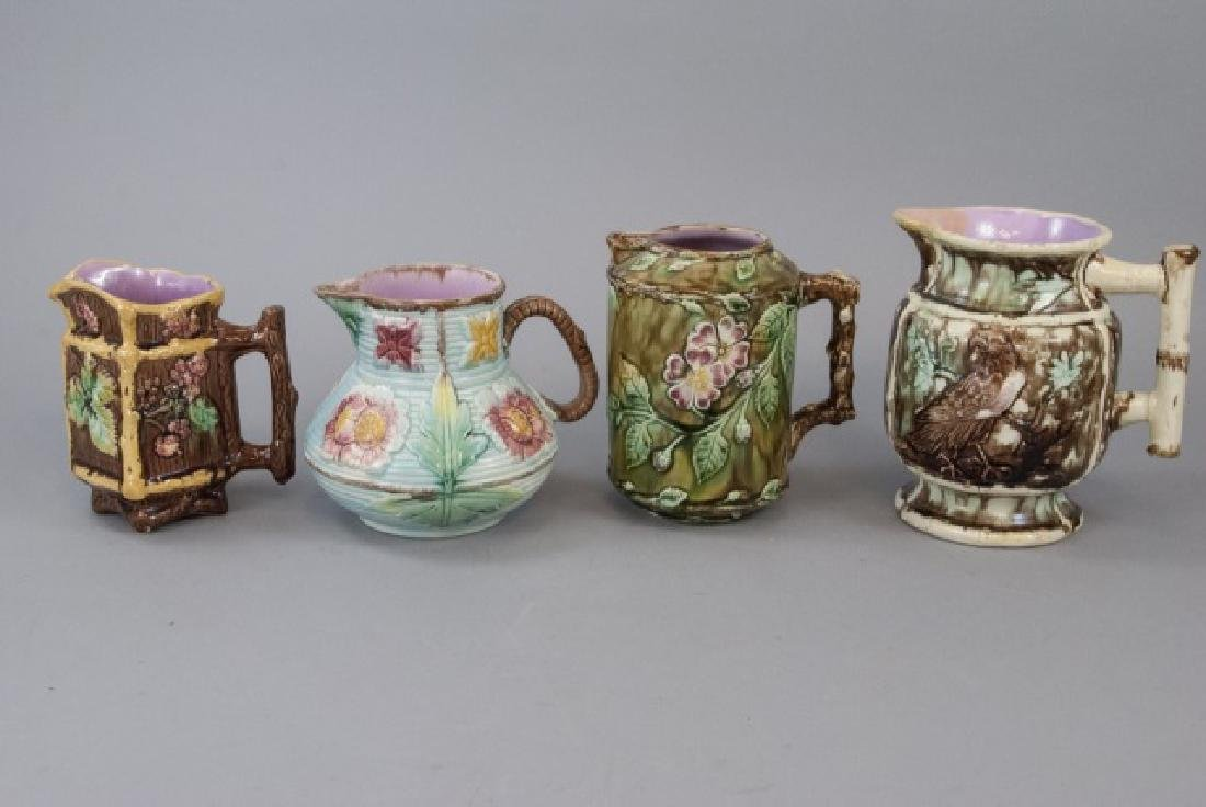 Assorted Lot Of 4 Majolica Water Jugs & Pitchers - 5