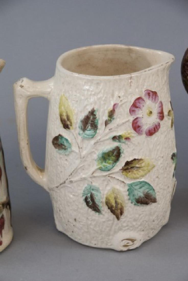 Assorted Lot Of 4 Majolica Water Pitchers & Jugs - 3