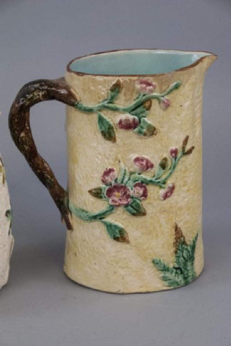 Assorted Lot Of 4 Majolica Water Pitchers & Jugs - 4