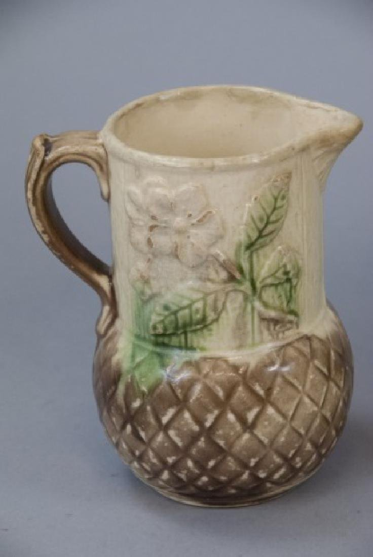 Assorted Lot Of 4 Majolica Water Pitchers & Jugs - 6