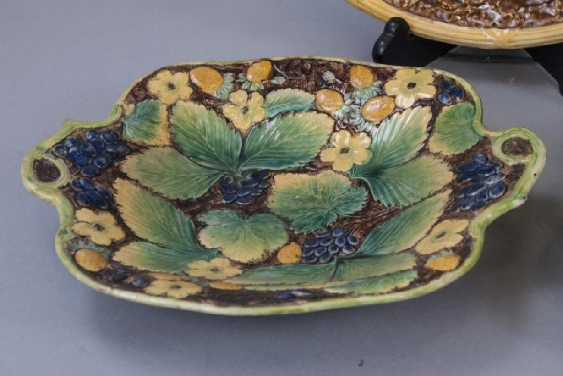 Five Assorted Majolica Serving Trays - 2