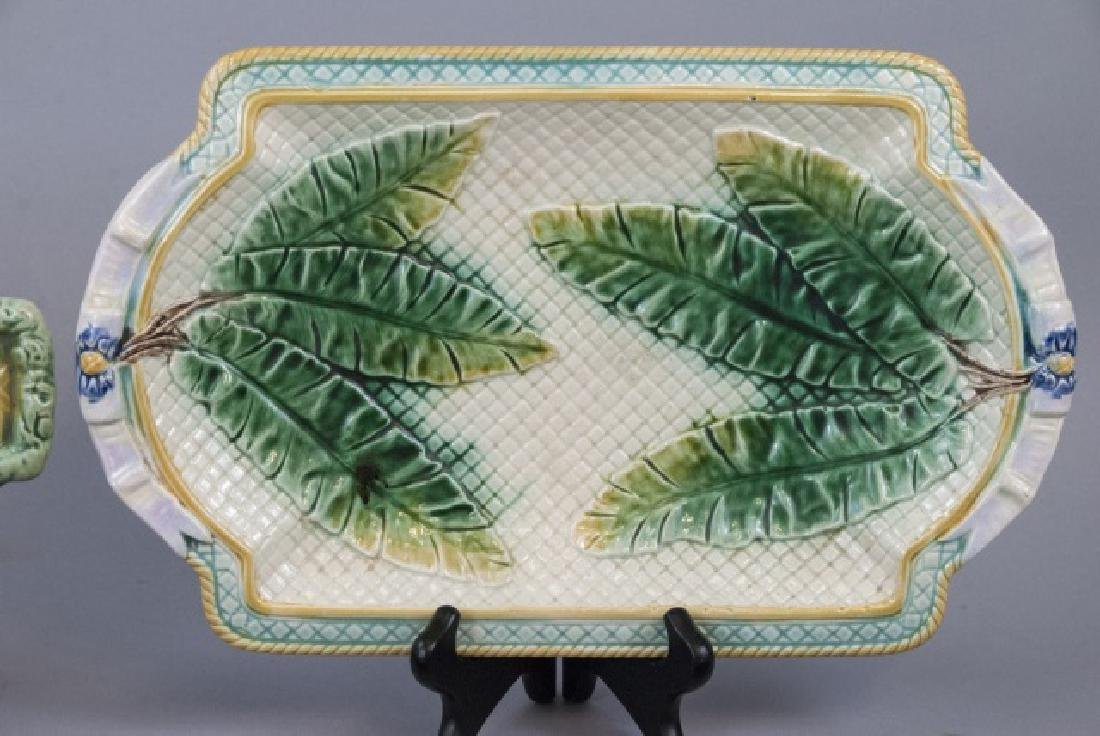Five Assorted Majolica Serving Trays - 4
