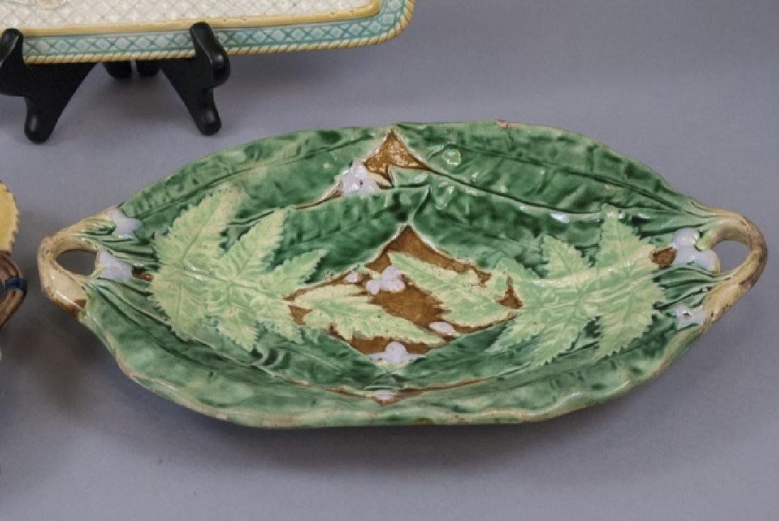 Five Assorted Majolica Serving Trays - 5