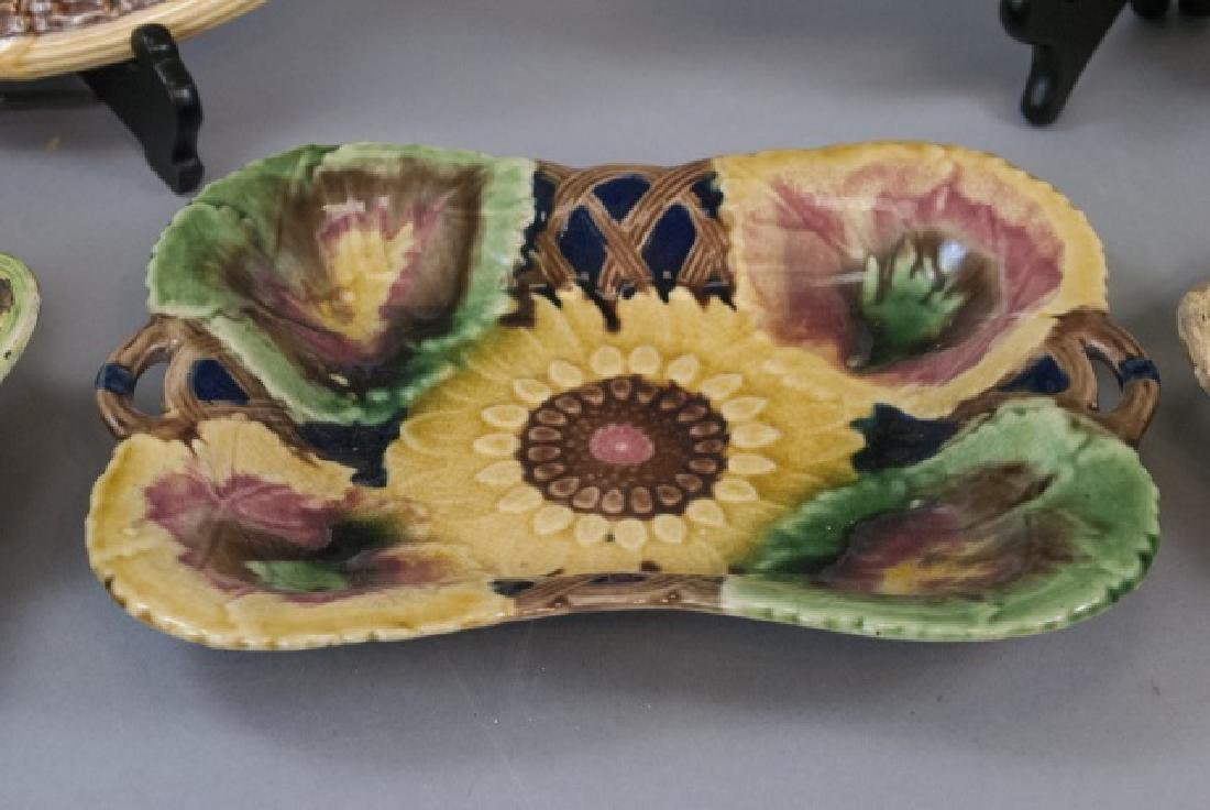Five Assorted Majolica Serving Trays - 6