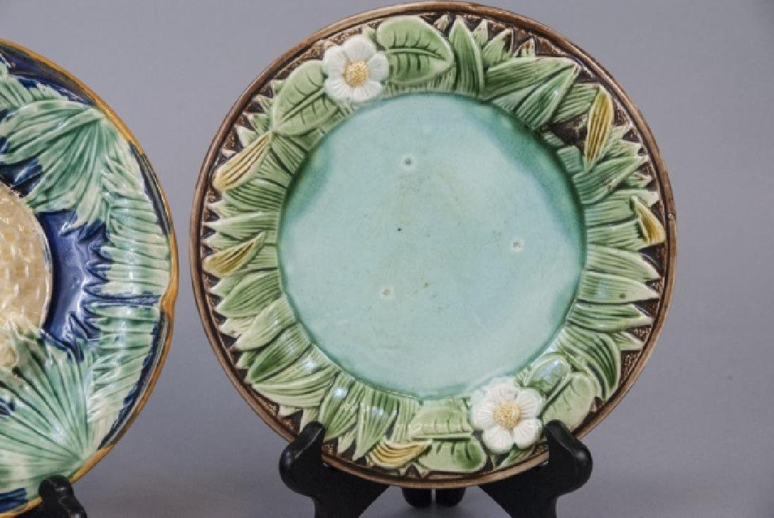 Four Assorted Vintage Majolica Plates - 2