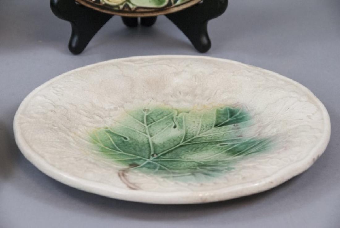 Four Assorted Vintage Majolica Plates - 3