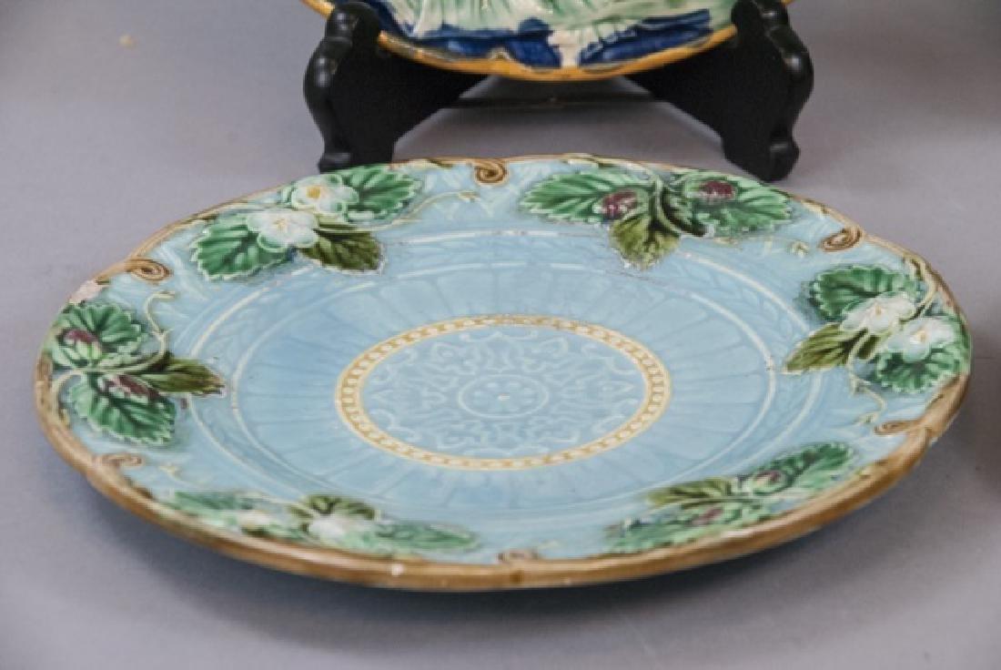 Four Assorted Vintage Majolica Plates - 4