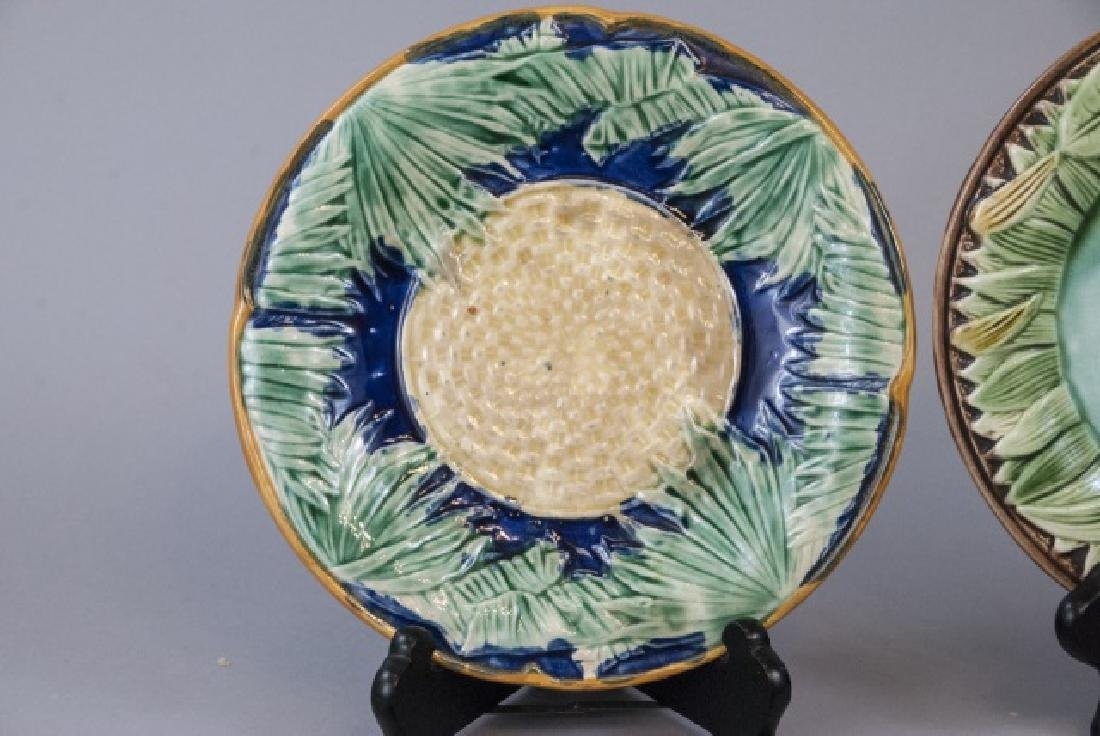 Four Assorted Vintage Majolica Plates - 5