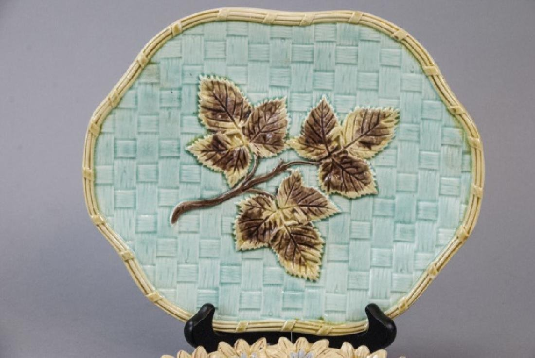 Two Vintage Assorted Majolica Plates - 2