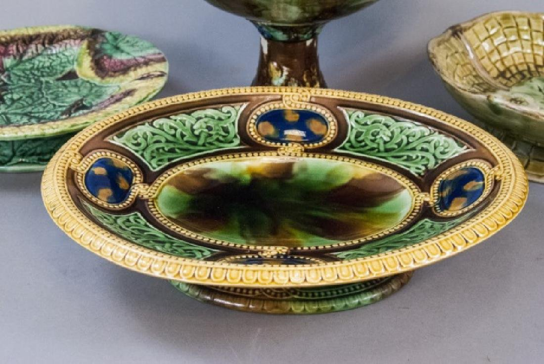 Four Assorted Vintage Majolica Compote Bowls - 2