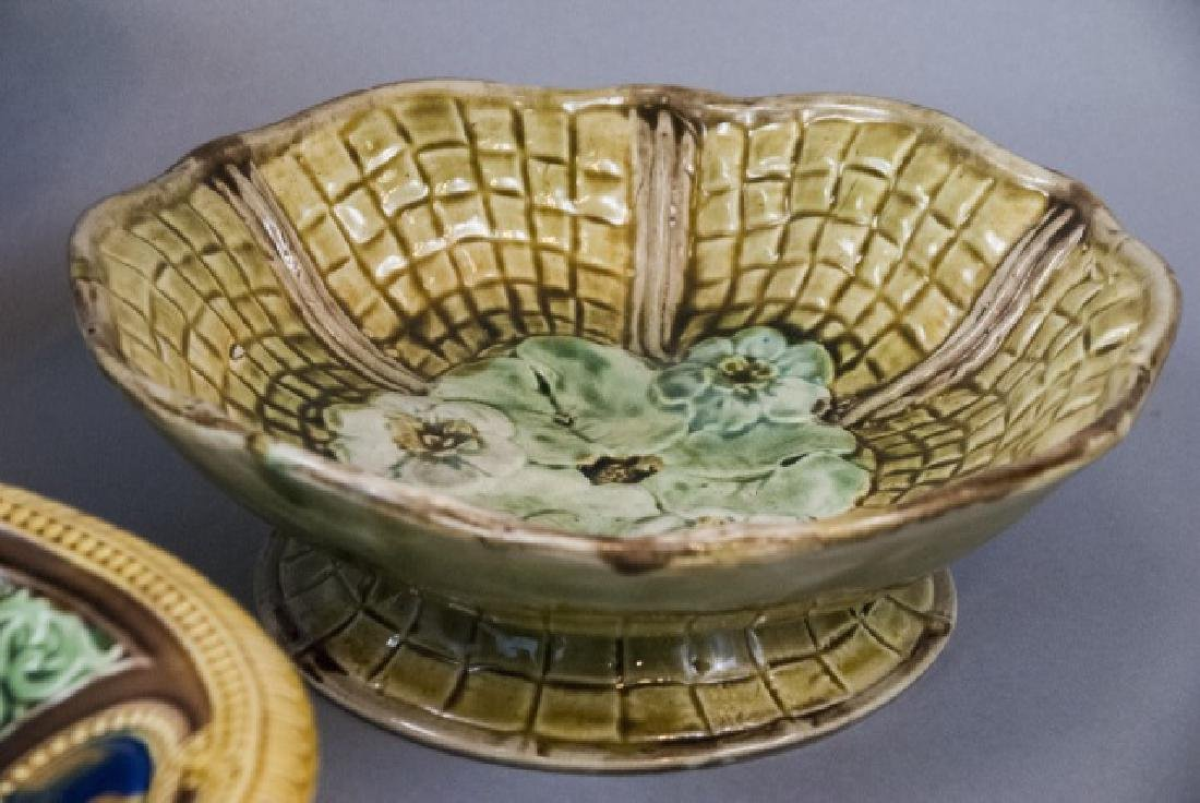 Four Assorted Vintage Majolica Compote Bowls - 4