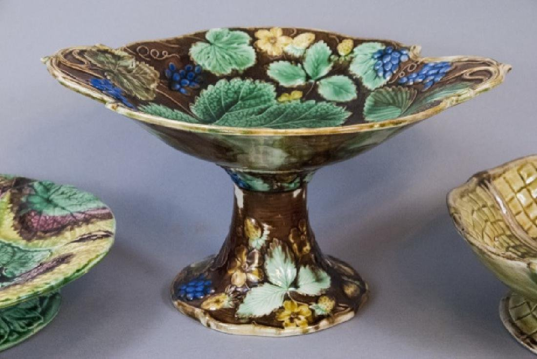 Four Assorted Vintage Majolica Compote Bowls - 5