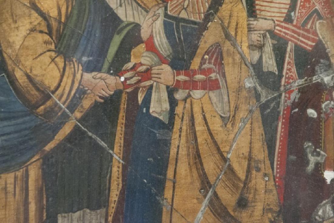 Antique 17th C Italian Tempera Painting on Panel - 2