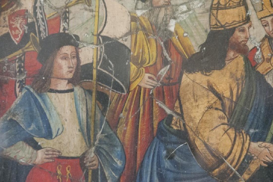 Antique 17th C Italian Tempera Painting on Panel - 3