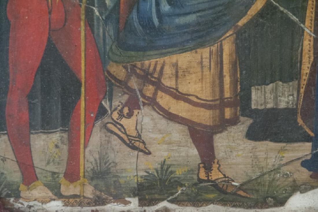 Antique 17th C Italian Tempera Painting on Panel - 4