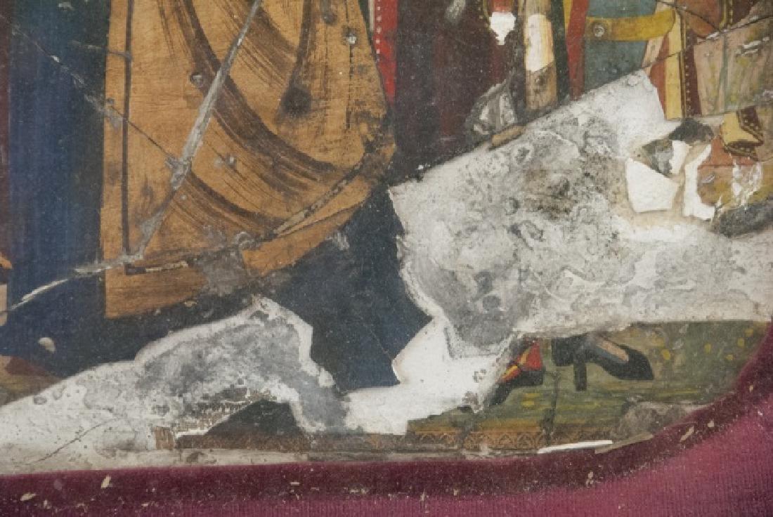 Antique 17th C Italian Tempera Painting on Panel - 6