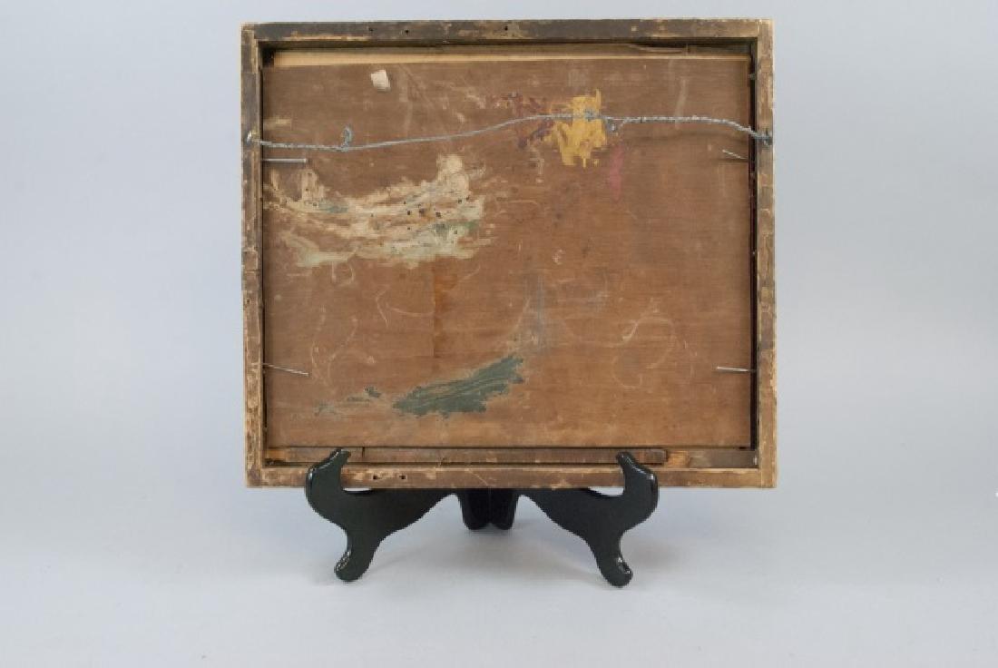 Antique 17th C Italian Tempera Painting on Panel - 7