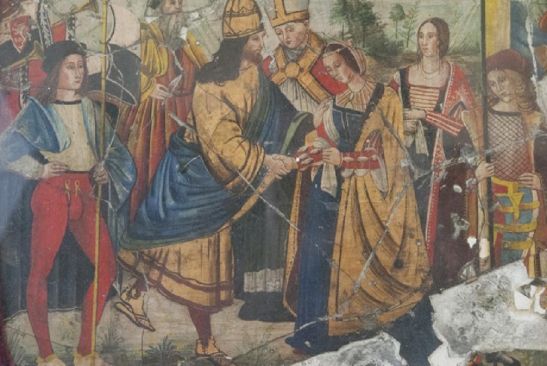Antique 17th C Italian Tempera Painting on Panel - 8