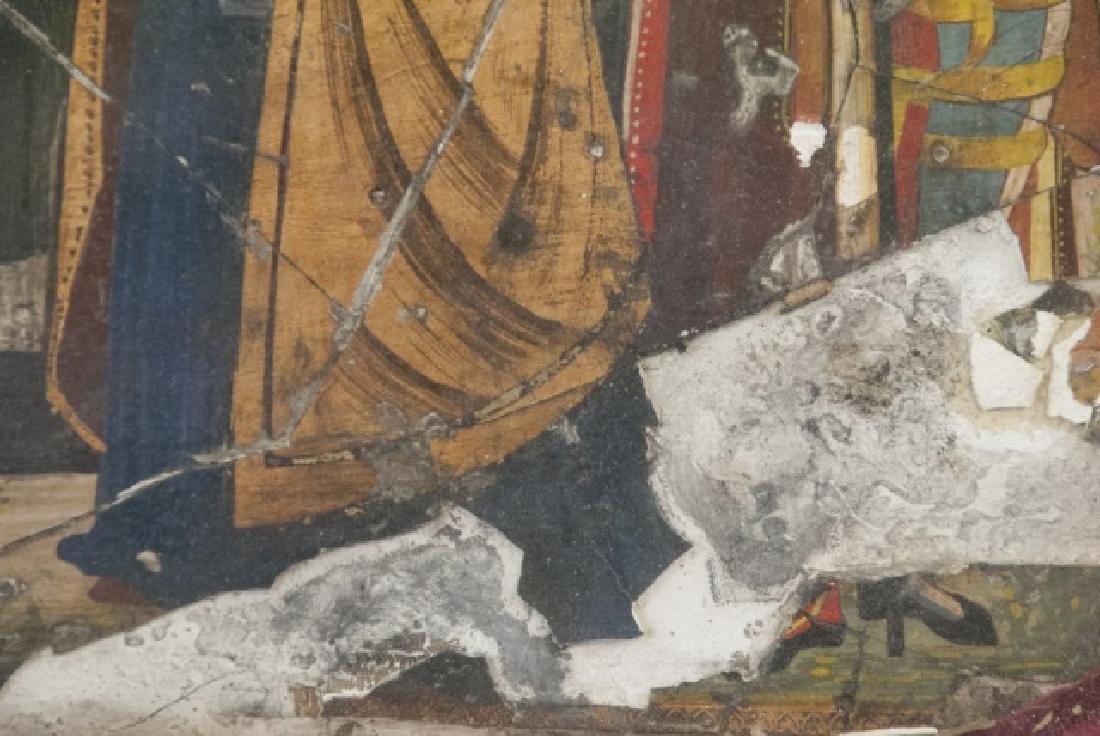 Antique 17th C Italian Tempera Painting on Panel - 9