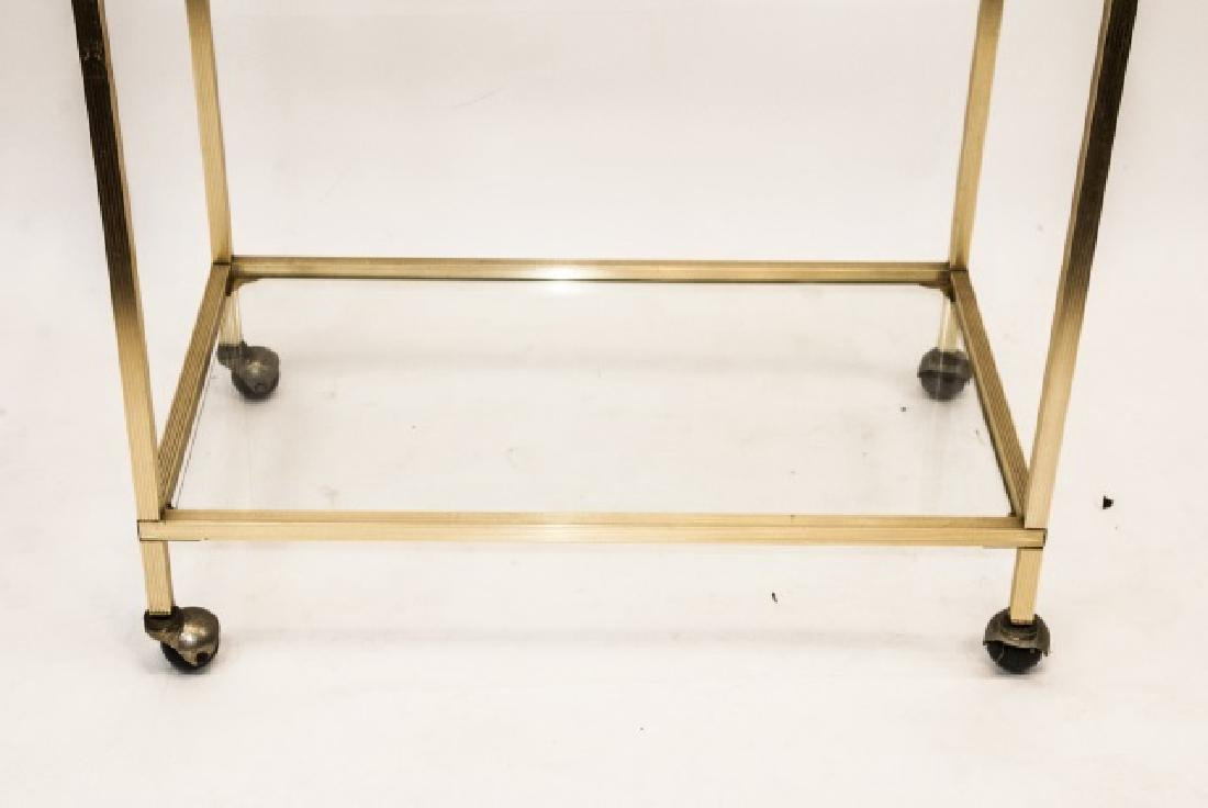 Bar Cart / Serving Cart Ormolu Frame Glass Shelves - 3