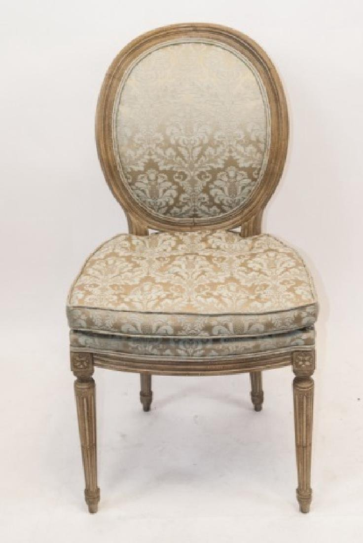 Set French Louis XVI Style Dining Chairs - 3