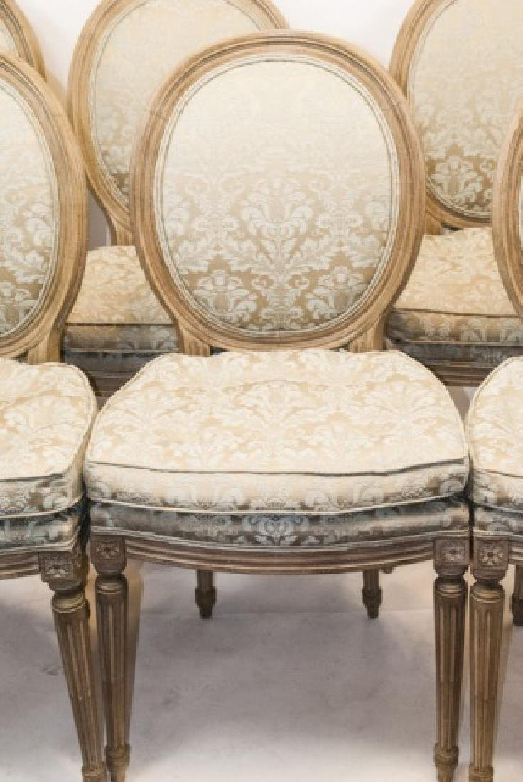 Set French Louis XVI Style Dining Chairs - 7
