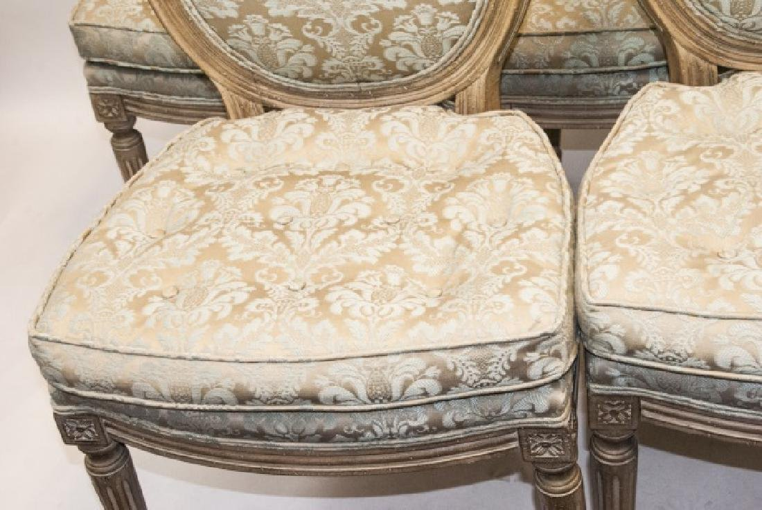 Set French Louis XVI Style Dining Chairs - 8