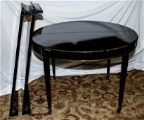 French Empire Style Ebony Tone Dining Table