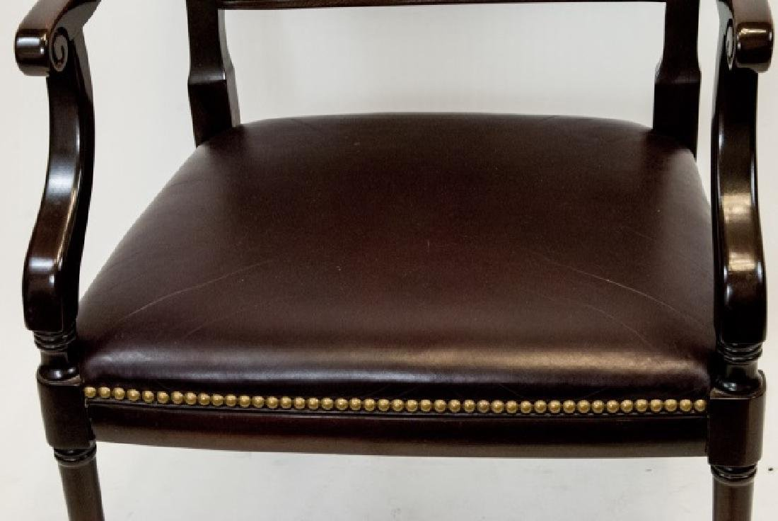 Vintage Hancock & Moore Red Leather Chair - 4