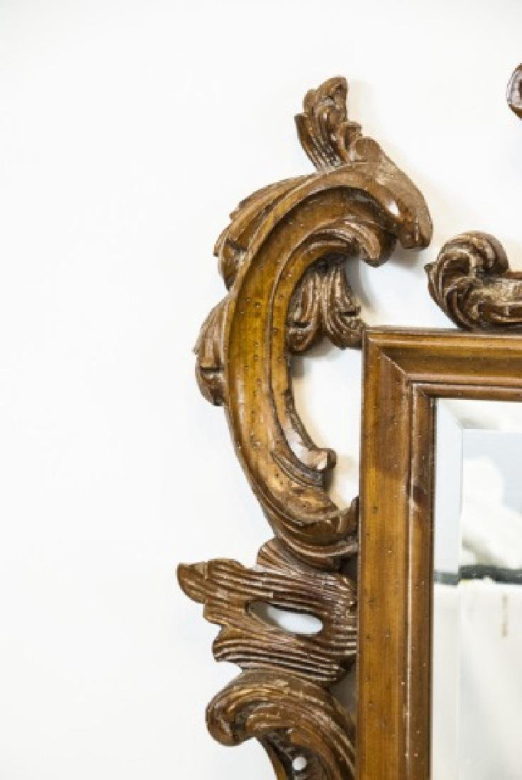 French Rococo Style Carved Pine Wall Mirror - 4