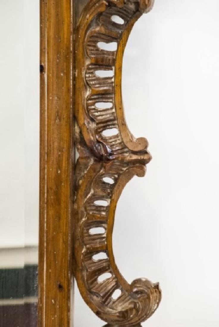 French Rococo Style Carved Pine Wall Mirror - 7